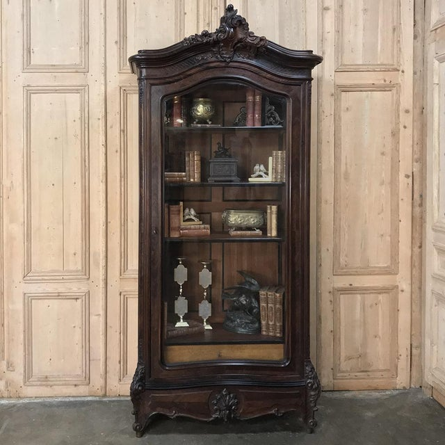 19th Century French Louis XV Rosewood Display Armoire ~ Bookcase is the perfect choice to display your cherished family...