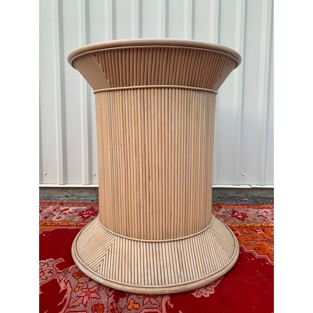 Exceptional! This guy is in excellent condition and is in the style of Gabriela Crespi. It is in a spool shape pedestal,...