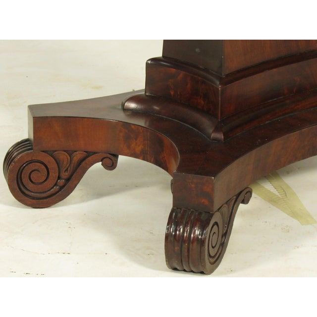 19th Century American Empire Card Table For Sale - Image 10 of 11