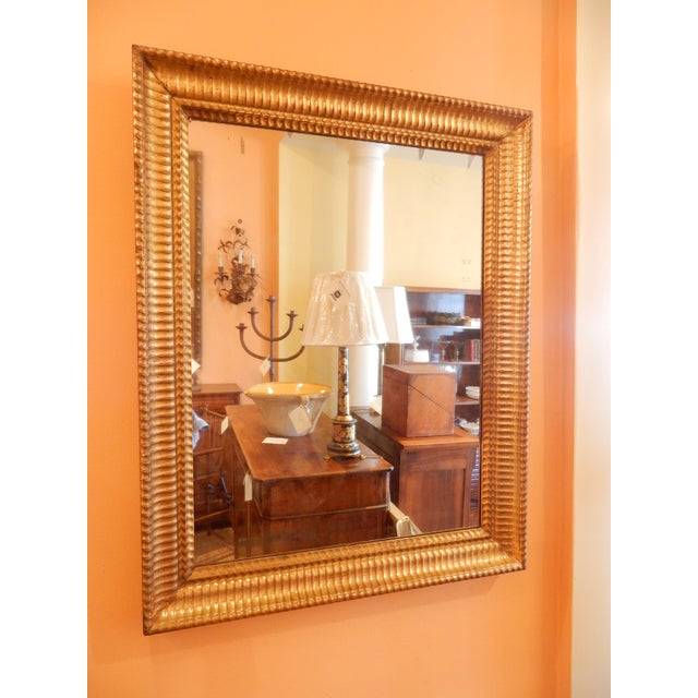 Glass Charles X 19th C. Gold Gilt Mirror For Sale - Image 7 of 7