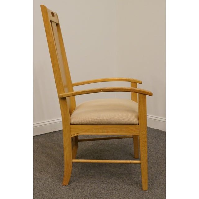 Wood Late 20th Century Vintage Thomasville Furntiure American Revival Collection Dining Arm Chair For Sale - Image 7 of 9
