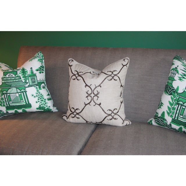 Beaded Linen Pillow by Sferra - Image 5 of 5