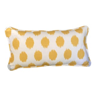 Custom Yellow & White Lumbar Pillow
