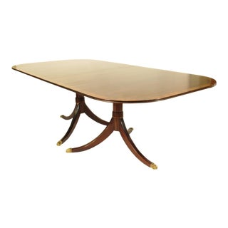 20th Century English Traditional Inlaid Dining Table For Sale