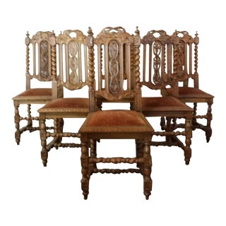 Jacobean Style Dining Chairs - Set of 6