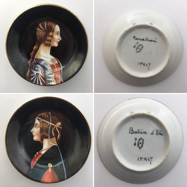 Richard Ginori Hand-Painted Porcelain Portrait Plates by Richard Ginori - Set of 9 For Sale - Image 4 of 7