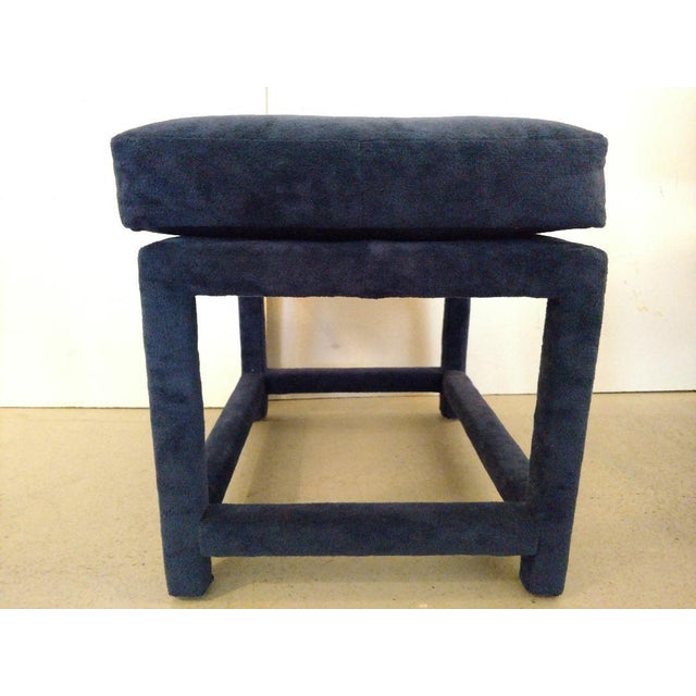 1970s 1930s Mid-Century Modern Milo Baughman for Thayer Coggin Fabric Stool For Sale - Image 5 of 11