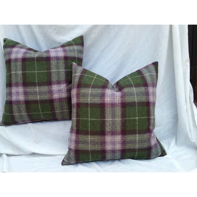 Scottish Plaid Pillows - Pair - Image 2 of 5