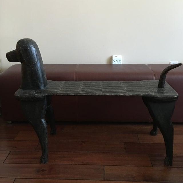 Black Dog Wooden Bench - Image 3 of 10