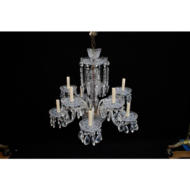 Art Deco Art Deco Crystal Chandelier For Sale - Image 3 of 6