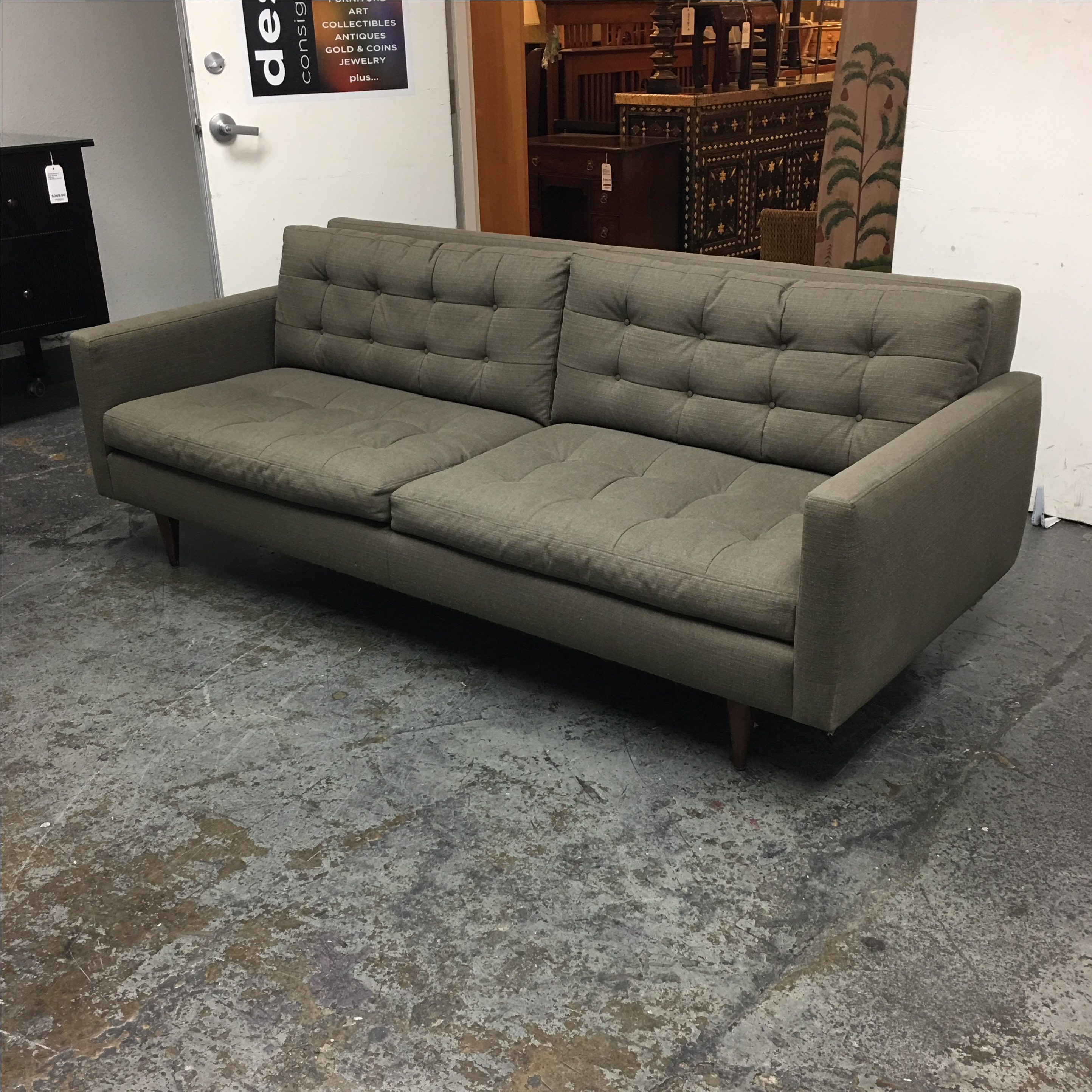 Crate Barrel Petrie Apartment Sofa Chairish