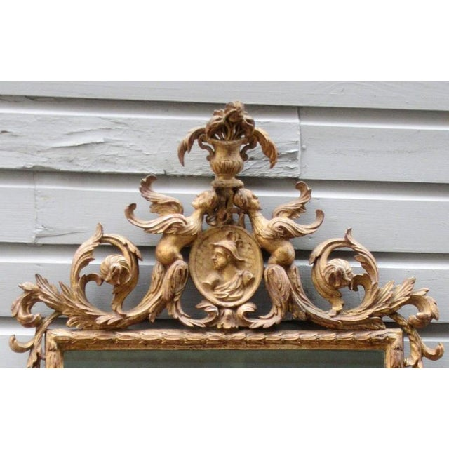 18th Century Italian Venetian Rococo Giltwood Mirror with Chinoiserie Details For Sale - Image 4 of 7