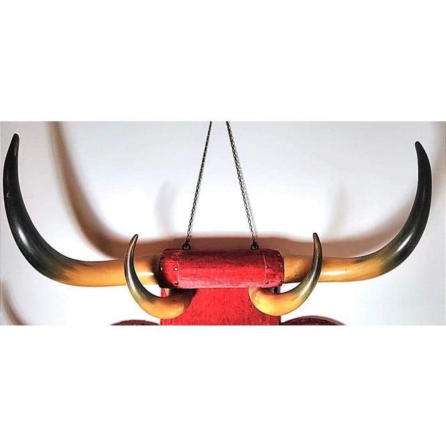 Antique Horn Coat & Hat Rack W/ Victorian Mirror For Sale - Image 4 of 5