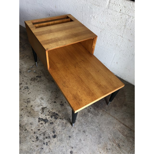 Vintage Mid Century Modern Phone Table by Raymond Loewy for Mengel Furniture For Sale - Image 11 of 13