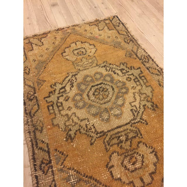 Turkish Hand Kontted Faded Rug - 1′8″ × 2′7″ For Sale - Image 4 of 6