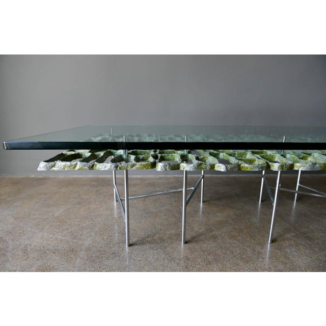 1970s 1970s Sculptural Brutalist Coffee Table By Donald Drumm For Sale - Image 5 of 11