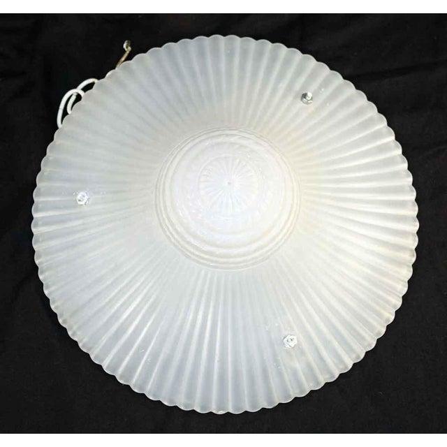 Vintage Milk Glass Hanging Dish Light For Sale - Image 4 of 4