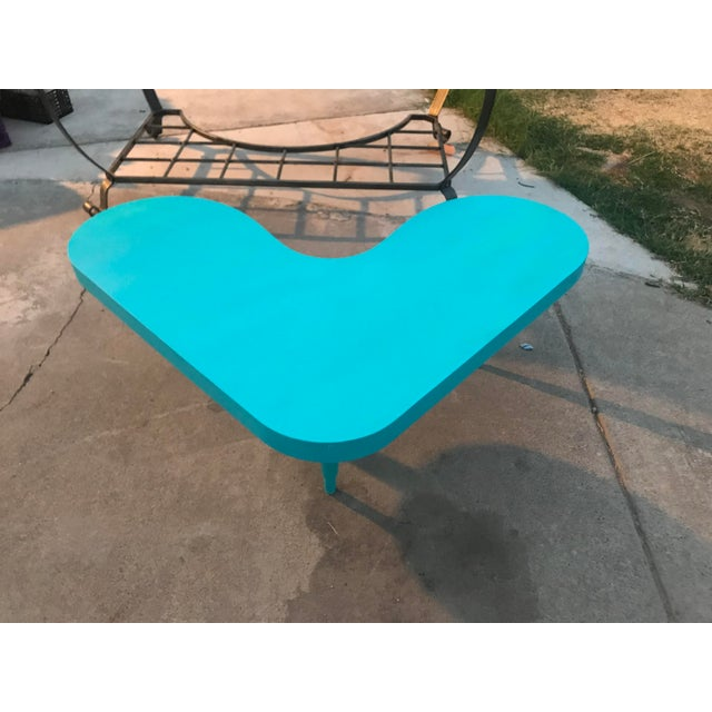 Atomic style 1950's vintage boomerang shape coffee table.