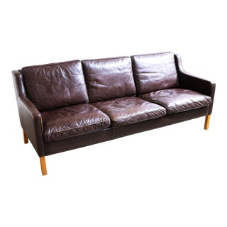 Stouby Danish Three Section Leather Sofa
