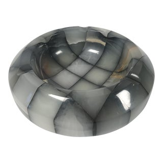 Marble Geometric Ashtray Catchall For Sale