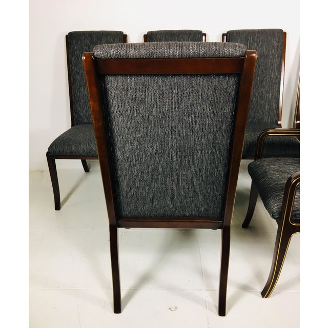 Modern 1970s Vintage Baker Furniture Company Dining Room Chairs- Set of 6 For Sale - Image 3 of 13