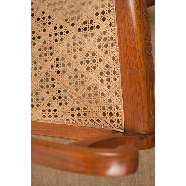 Teak Rocking Chair from 19th C. India - Image 5 of 6