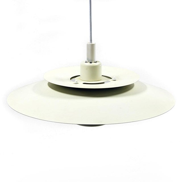 Danish Modern Denmark 1970s Simon P. Henningsen for Lyskaer Belysning Pendant Light For Sale - Image 3 of 10