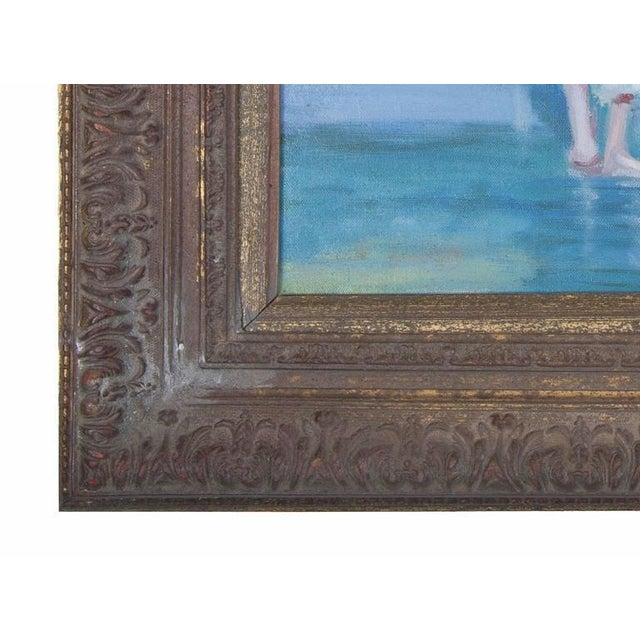 Early 20th Century American Impressionist Oil on Canvas of Ocean Play For Sale - Image 5 of 6