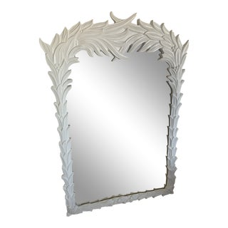 Roche Style Palm Fond Wall Mirror For Sale