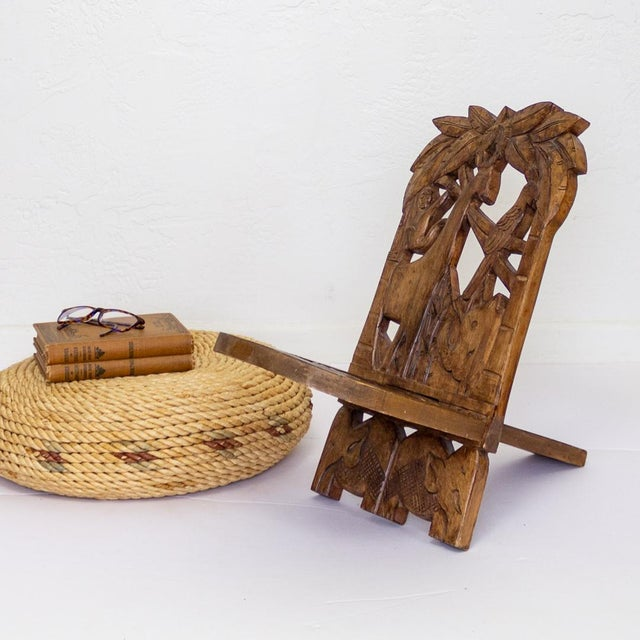 Childs Hand Carved African Chair | Two Piece Palaver Camp Chair For Sale - Image 6 of 11
