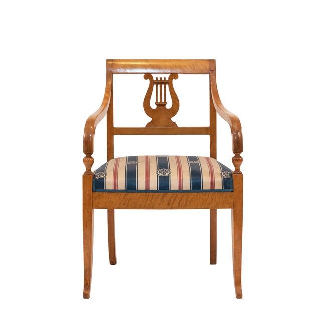 Swedish Biedermeier Birch Arm Chair For Sale In New York - Image 6 of 6