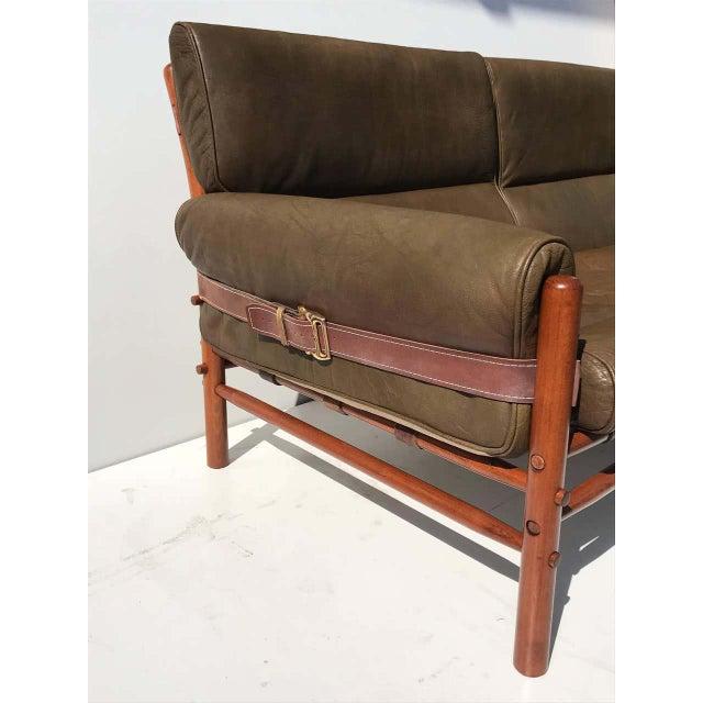 "Metal Arne Norell Leather ""Kontiki"" Sofa For Sale - Image 7 of 13"