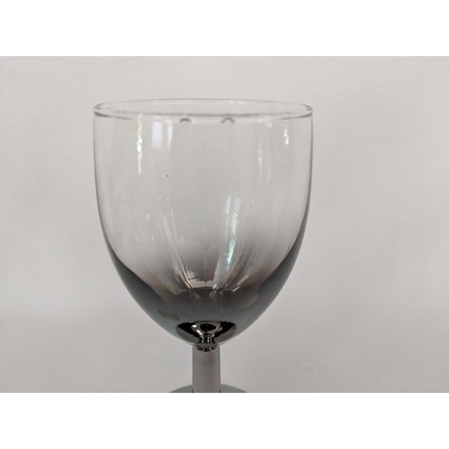Lusterware Silver Ombre Glasses - Set of 6 For Sale - Image 12 of 13