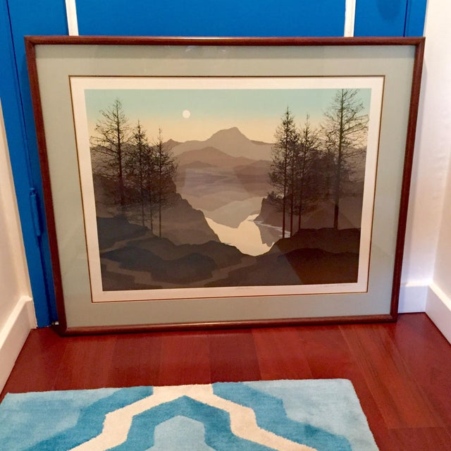 This listing is for a framed, signed, original fine art serigraph giclee from famed artist Robert Wilson. Known worldwide...