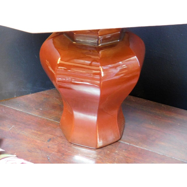 Mid-Century Deep Umber Lamp For Sale In San Francisco - Image 6 of 9