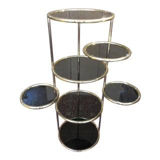 Milo Baugham Style Etagere With Seven Circular Swivel Tiers For Sale