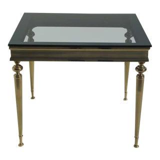 Hollywood Regency Italian Bronze Side Table