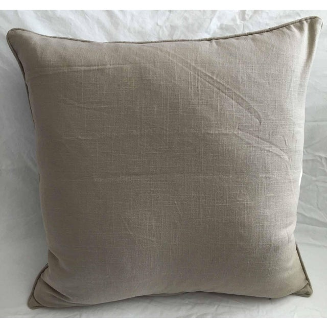 "An outstanding Bolinpush Suzani pillow with cotton embroidery on cotton. Size: 22.0"" x 22.0"". Over sized and perfect as a..."