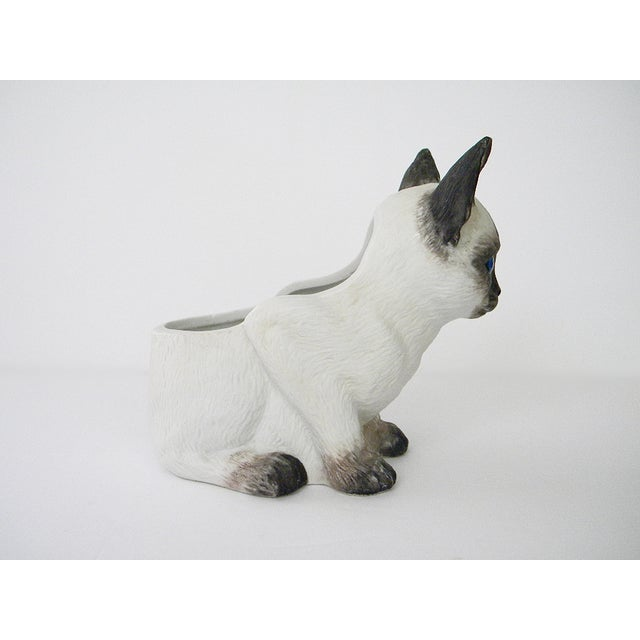 Vintage Porcelain Siamese Cat Planter