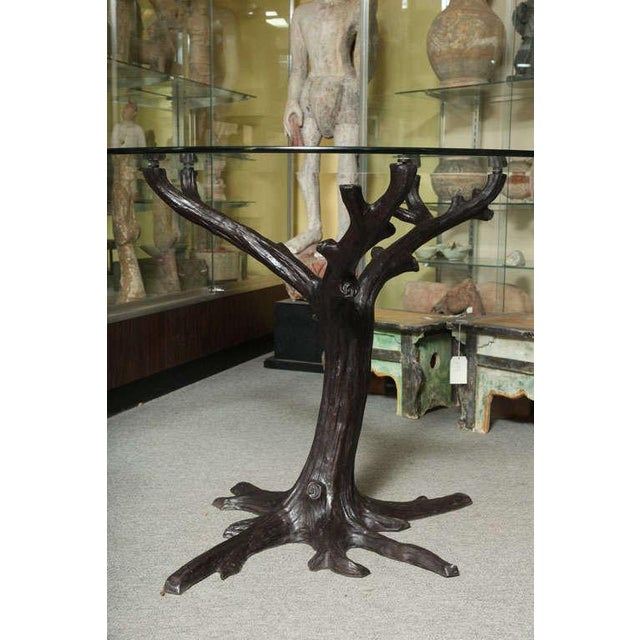 2000 - 2009 Contemporary Bronze Sculptural Tree-Trunk Dining Table Base From Thailand For Sale - Image 5 of 10