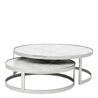Contemporary Eichholtz Fletcher Nesting Marble Coffee Table
