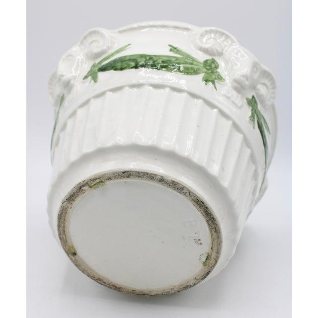 Italian White Rams Head Ceramic Planter For Sale In Tulsa - Image 6 of 8