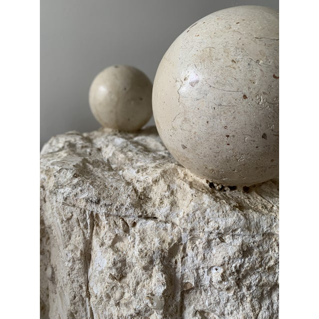 Late 20th Century Mactan Stone Side Tables - a Pair For Sale - Image 4 of 12