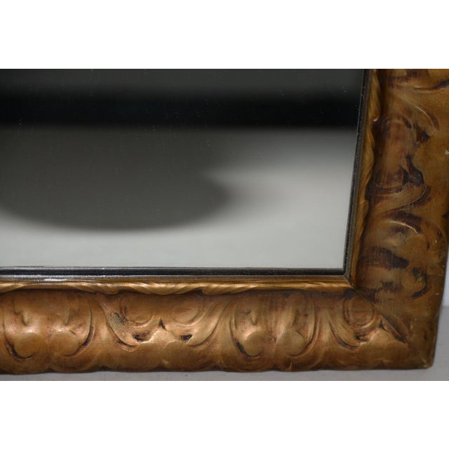 Art Nouveau Art Nouveau Carved & Gilded Frame with Mirror C. 1890 to 1910 For Sale - Image 3 of 8