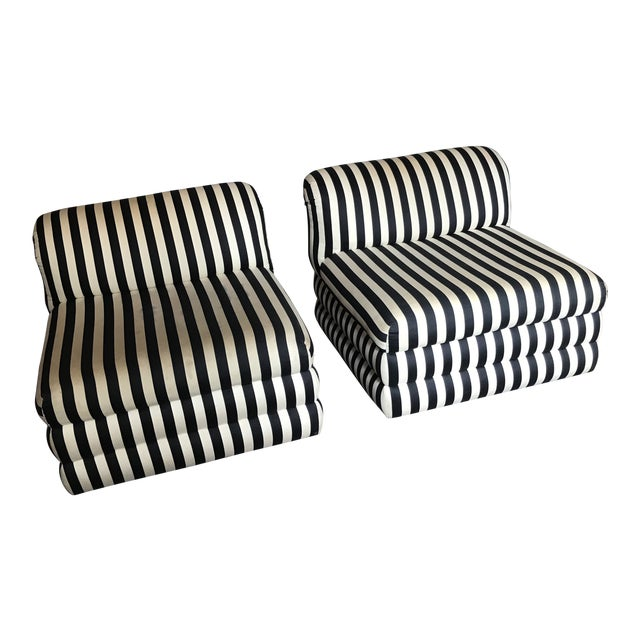 Vintage Directional Slipper Chairs - a Pair For Sale