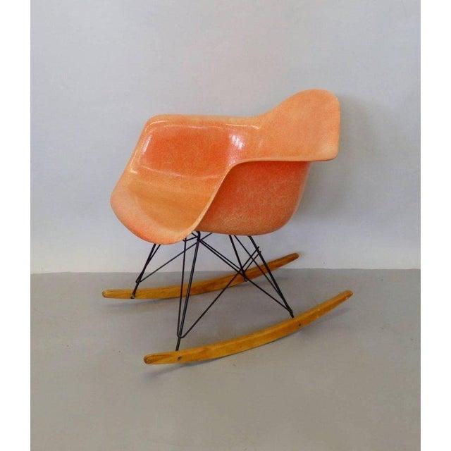 Orange Best Eames Rar Herman Miller Zenith Rope Edge Rocking Chair For Sale - Image 8 of 8