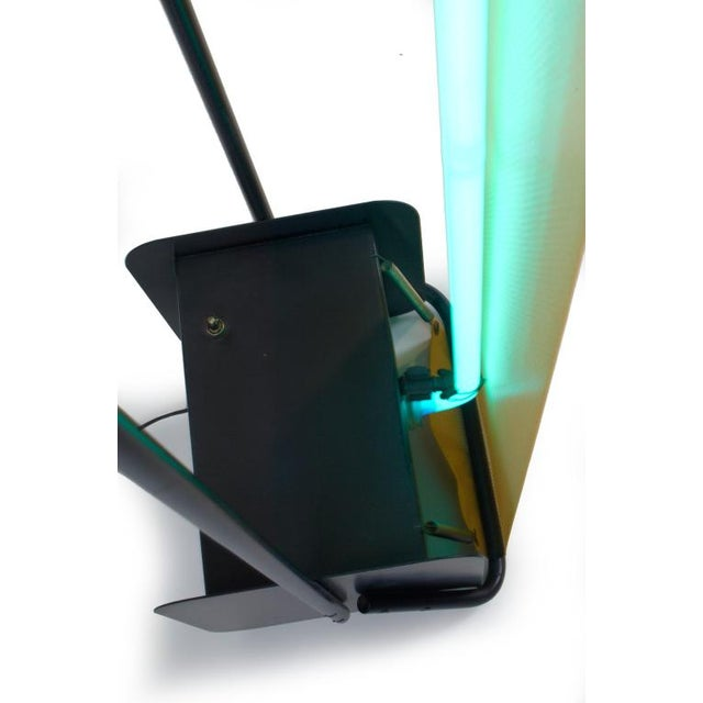 Post Modern Neon Light Sculpture Torchiere after Rudi Stern - Image 10 of 10