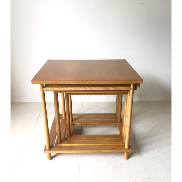 T.H. Robsjohn Gibbings T.H. Robsjohn-Gibbings Nesting Tables - Set of 3 For Sale - Image 4 of 7