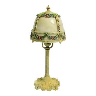 Antique Slag Glass Boudoir Lamp by Miller Lamp Company For Sale