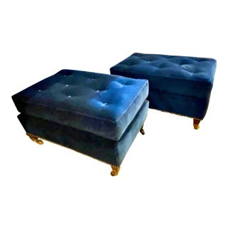 George Smith Ottoman - A Pair For Sale